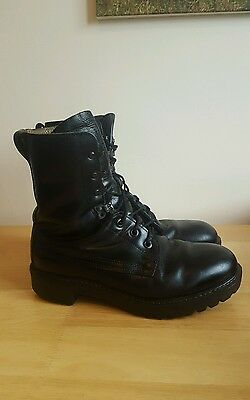 British Army Issue Leather Black Combat Boots Size 8 M