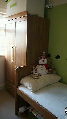 Kiddystyle Calgary nursery set including cot, wardrobe and changing/drawer unit