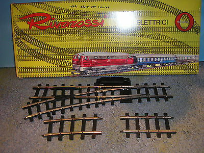 O Gauge  Rivarossi L/h Point Plus Curved Straight Boxed