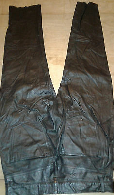 Black lightweight leather Jeans size  30
