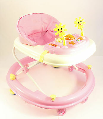 Pink Activity Walker  Adjustable Musical Baby Activity Toy Lights & Sounds