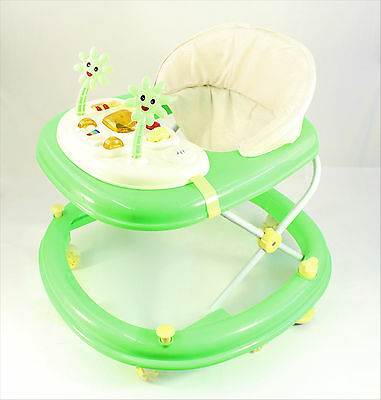 Green Activity Walker  Adjustable Musical Baby Activity Toy Lights & Sounds