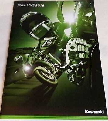 2016 Kawasaki Full Line Motorcycle Cycle Motorbike Motor Bike Brochure