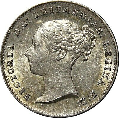 1838 Silver Groat, Victoria. Good extremely fine.