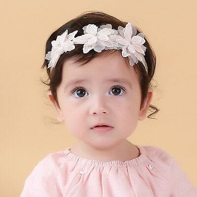 3-36 Month Baby Toddler Kids Headband Chiffon Flower Toddler Girls Christening