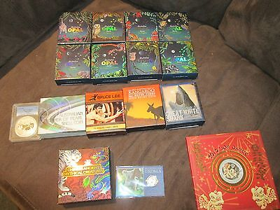 Perth mint, small coin collection Opal Series,Chinese ancient mythical creatures