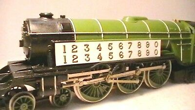Triang Hornby Lima Lner Numbers X2 Transfers Decal Metallic Gold / Black Spares.