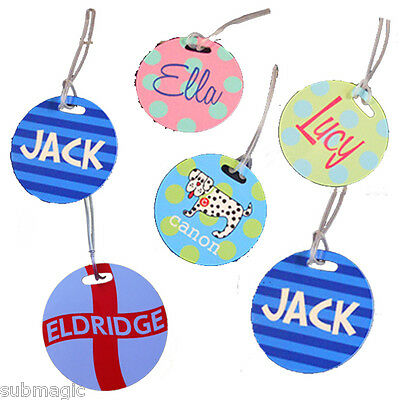 Personalised High Quality Golf / Luggage Tag - LARGE - ROUND - 10cm Diameter