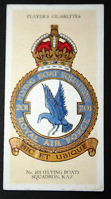 NO 201   (FLYING BOAT)  SQUADRON  RAF    Original Vintage Card