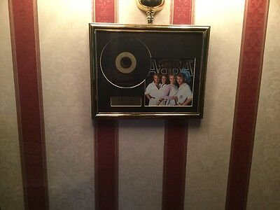 Abba framed CD and Picture