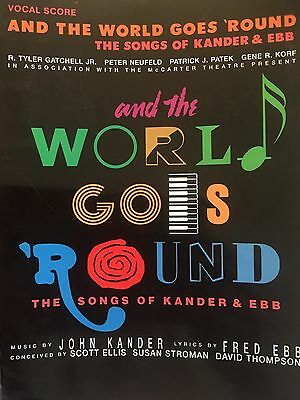 And The World Goes Round Songs Of Kander & Ebb Music Score Songs Chicago Cabaret