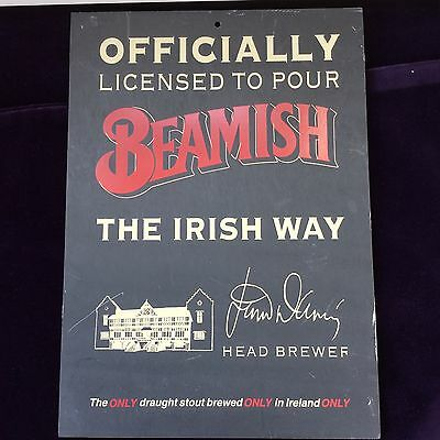 Advertising Slate Plaque ~ Officially Licenced To Pour Beamish The Irish Way
