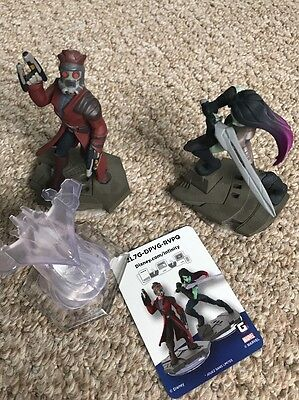 Disney Infinity Figures Star Lord And Gomora Guardians Of galaxy