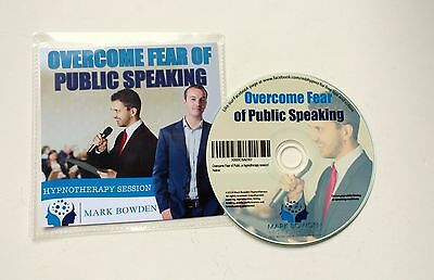 Overcome Fear of Public Speaking Hypnosis CD by Mark Bowden & free mp3 version