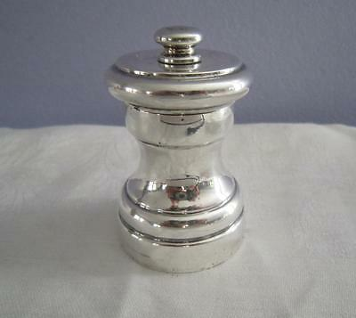 """Revere Sterling Pepper Grinder Mill 2.5"""" Made In Italy"""