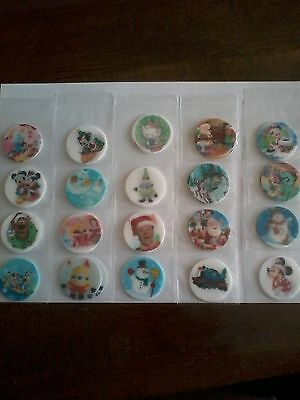 Job lot of 100 Childrens Christmas Cup Cake Toppers 1