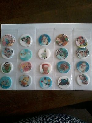 Job lot of 100 Childrens Christmas Cup Cake Toppers 2