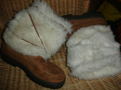 Ladies Fur Lined Winter boots  -  Size 4