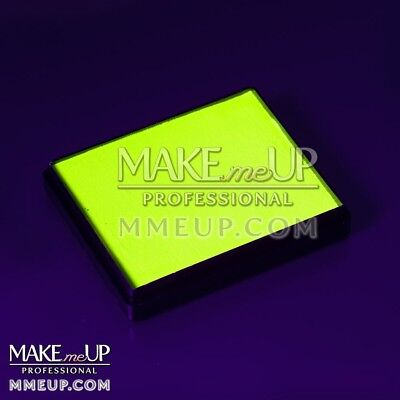 NEON YELLOW Fluorescent 50g UV Face paint water color body Blacklight glowing