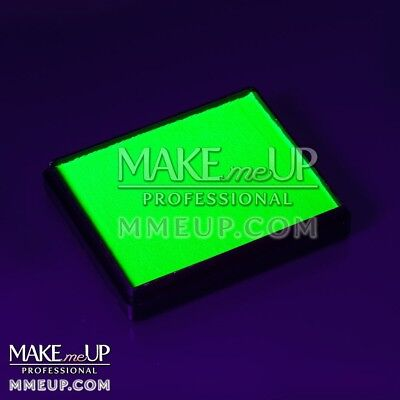 NEON GREEN Fluorescent 50g UV Face paint water color body Blacklight glowing
