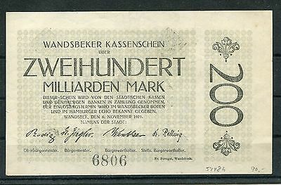 Wandsbek 200 Milliarden Mark vom 6.11.1923