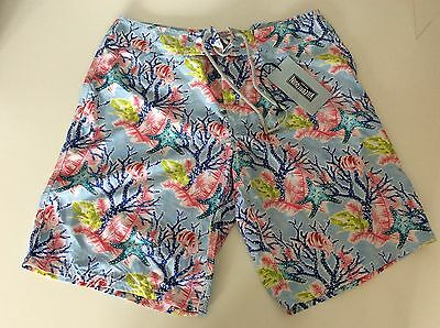 Vilebrequin Men's Swimming Shorts, Size Large, L, Fish & Coral Sky NEW