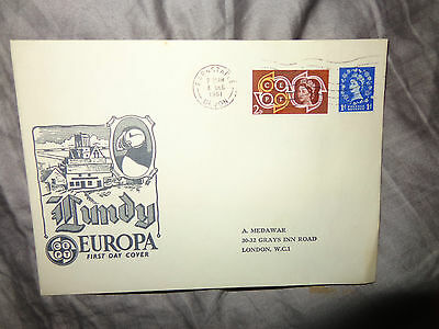 Lundy Island 8 December 1961 Europa Commemorative Stamps On First Day Cover