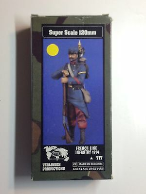 120Mm 1/16 Resin Figure By Verlinden 717 French Line Infantry Wwi 1914. New.