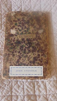Circa 1850 Map Of Europe With Original Folder
