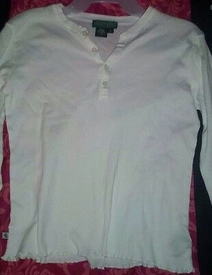 Nwot White Long Sleeve Top By Ralph Lauren Sz Sm