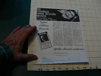 CHECK It Out-- original 1973 the Canadian Count Dracula society membership form