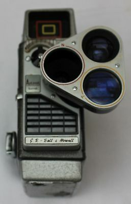 Bell and Howell Autoset Turret Cine Camera, 8mm, Case and Manual