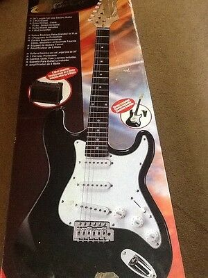 """Electric Guitar 39"""" with Separate 5Watt Amplifier with Stand, Power Play KSP300"""