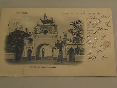 French Legation? Hanoi, Tonkin Postcard with French Stamp