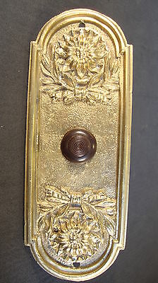 Door Bell Push Button Bronze Original Antique FREE SHIPPING WORLDWIDE *
