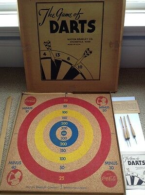 COCA COLA 1940s DARTS AND BASEBALL GAME SET WWII TROOPS MINT COKE