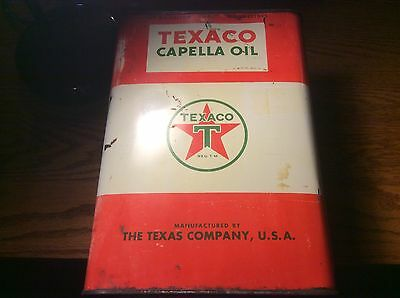 Texaco Capella Oil Can One Gallon