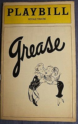 Grease Royale Theatre december 1975