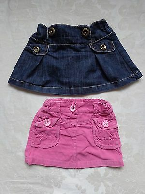 2 X Baby Girl Skirts Next & M&s 12-18 Mths Great Condition