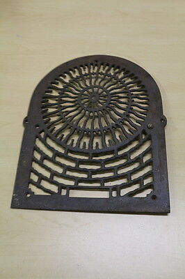 "Antique Victorian Fancy Cast Iron Heater Vent Grate or Cover 16 1/8"" x 13"""