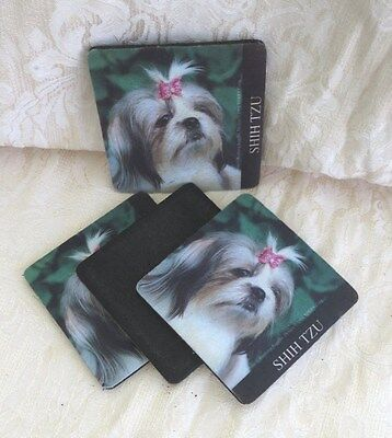 Shih Tzu Coasters by XPRES GIFT COLLECTIONS, Set of 4, used