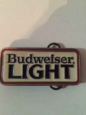 Vintage 80's Budweiser Light Bud Light Belt Buckle Rare!