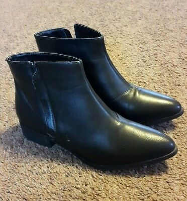 Dorothy Perkins Ladies Black Ankle Boots Size 5