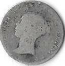 Uk 1842 Victorian Young Head Silver Groat- (#150-Bk4)