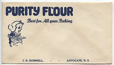 Old Vintage Advertising Envelope Purity Flour J.R.Rommell Advocate NS