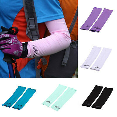 1Pair New Cycling Bicycle Soft Arm Warmers Sleeves Cover UV Sun Protection