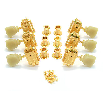 Grover Gold 3+3 Vintage Deluxe Tuners for Gibson®/Epiphone® Guitar 135G