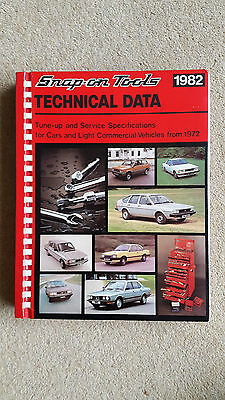 Snap-On Tools Autodata Technical Data 1982 Workshop Manual