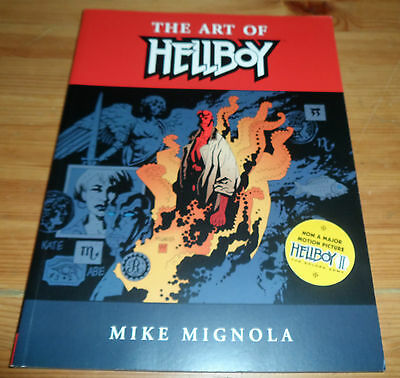 Paperback Book 2004 The Art Of HELLBOY Mike Mignola Dark Horse Comics Books