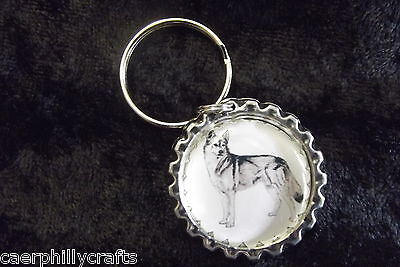 Siberian Husky Keyring by Curiosity Crafts